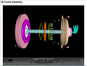3D Clutch Assembly Simulation